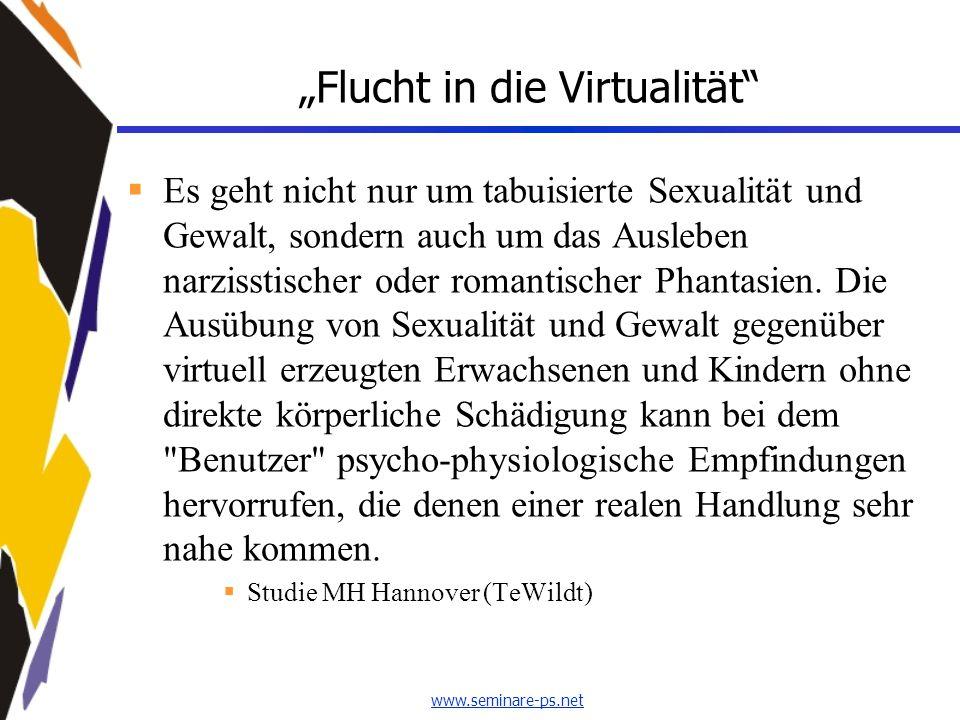 """""""Flucht in die Virtualität"""