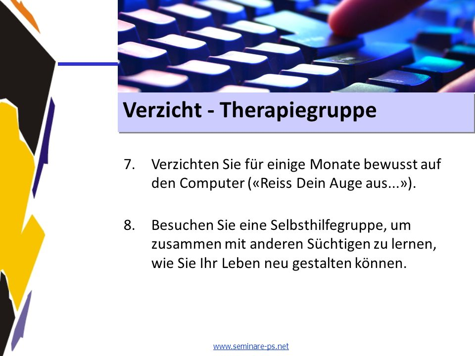 Verzicht - Therapiegruppe