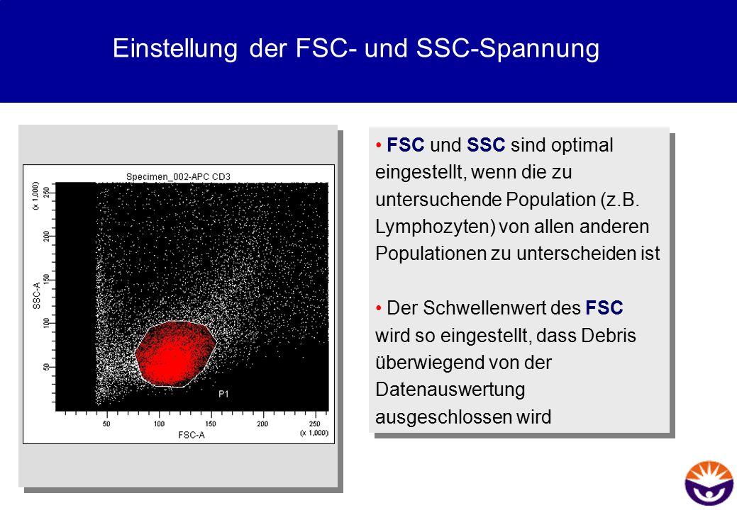 Einstellung der FSC- und SSC-Spannung