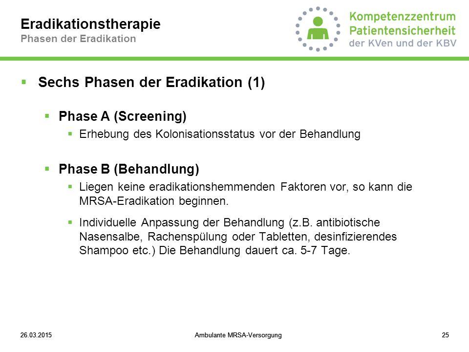 Eradikationstherapie Phasen der Eradikation