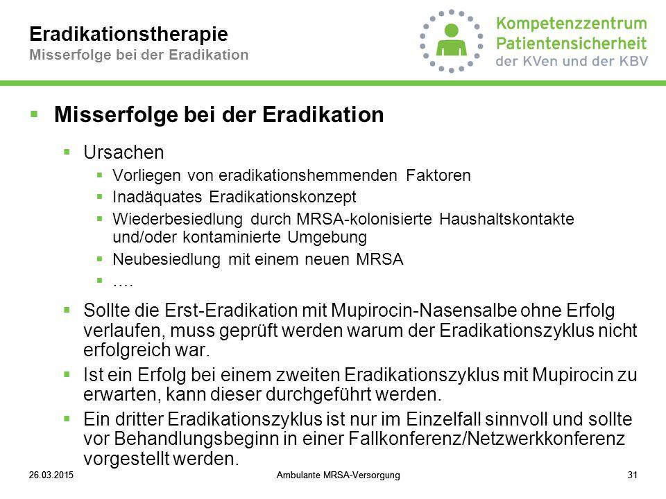 Eradikationstherapie Misserfolge bei der Eradikation