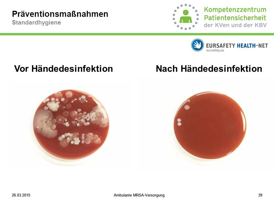 Präventionsmaßnahmen Standardhygiene