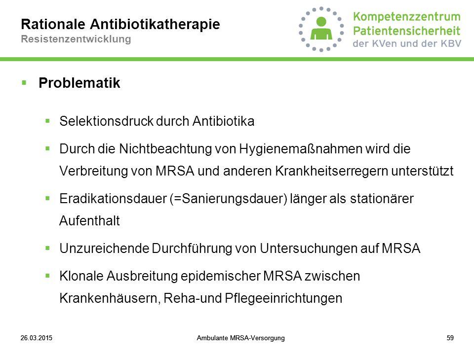 Rationale Antibiotikatherapie Resistenzentwicklung