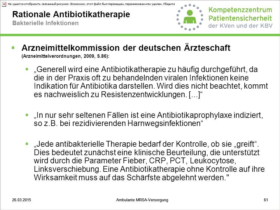 Rationale Antibiotikatherapie Bakterielle Infektionen