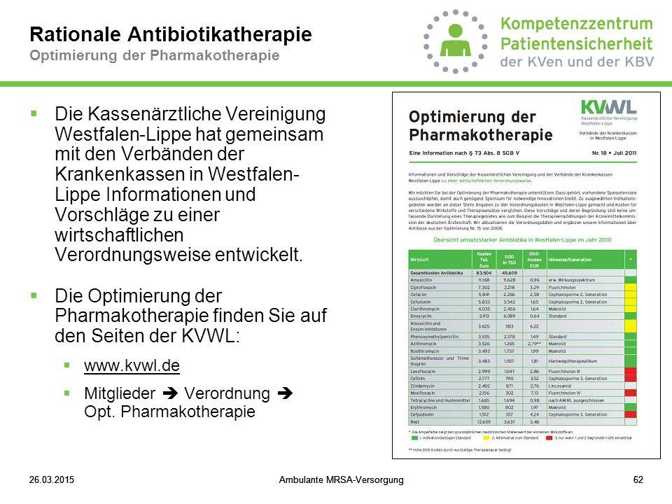 Rationale Antibiotikatherapie Optimierung der Pharmakotherapie