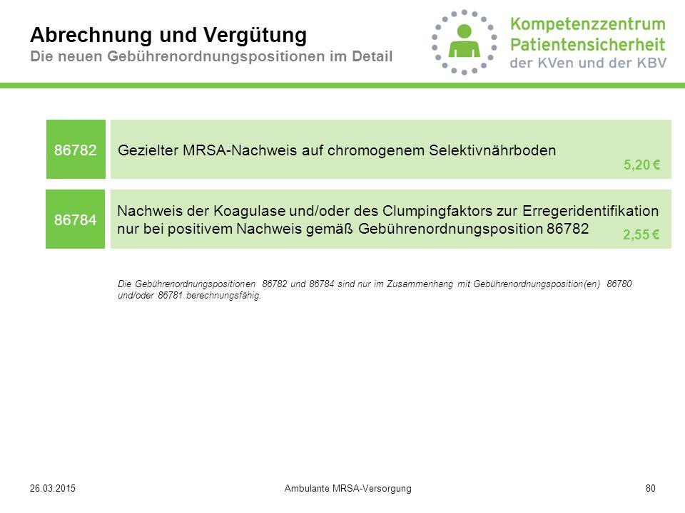 Ambulante MRSA-Versorgung