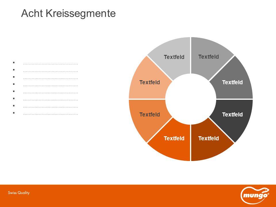 Acht Kreissegmente Textfeld Textfeld Textfeld Textfeld Textfeld