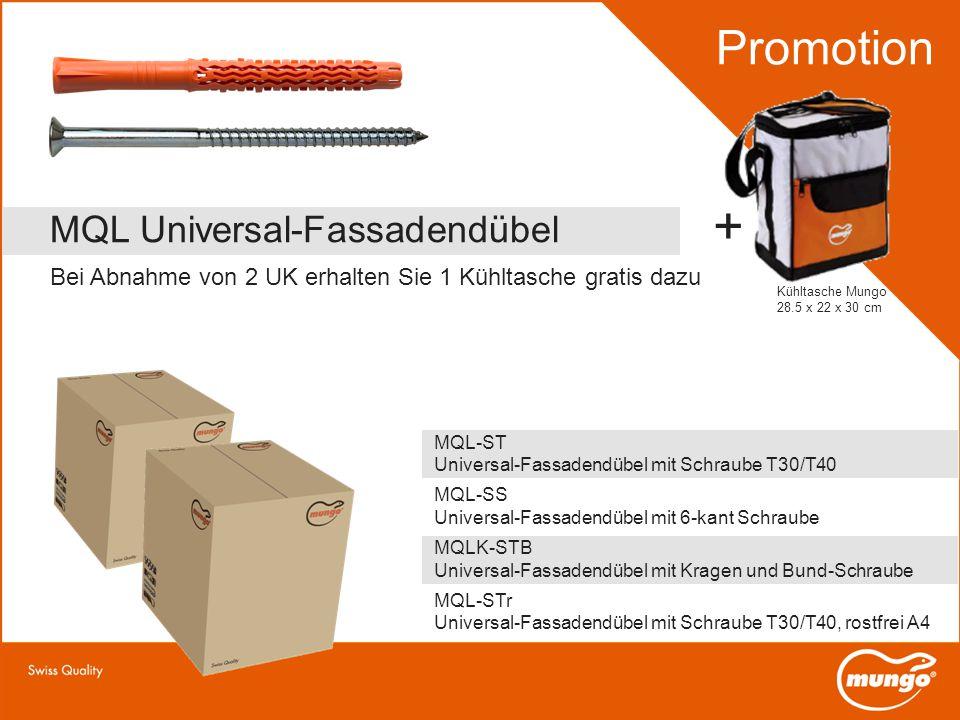 + Promotion MQL Universal-Fassadendübel