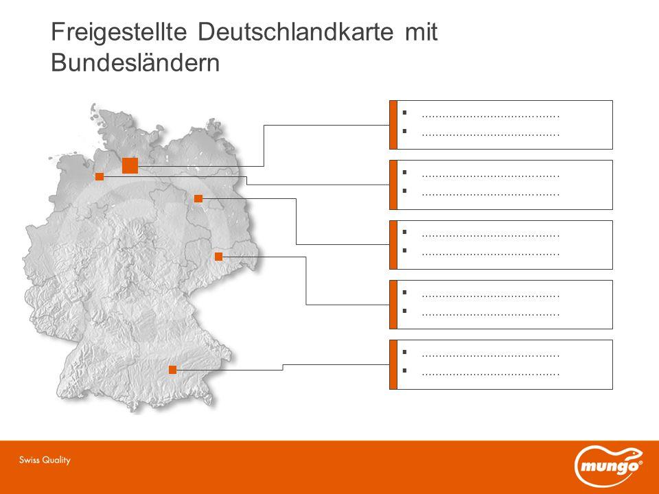 Freigestellte Deutschlandkarte mit Bundesländern