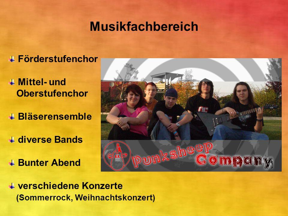 Musikfachbereich Förderstufenchor Mittel- und Oberstufenchor