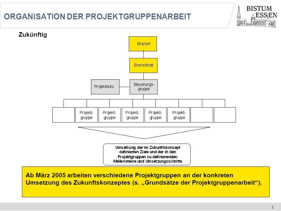 ORGANISATION DER PROJEKTGRUPPENARBEIT