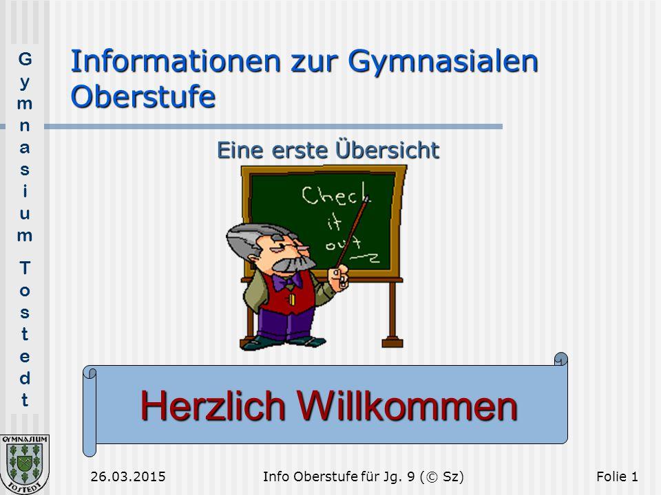 Informationen zur Gymnasialen Oberstufe