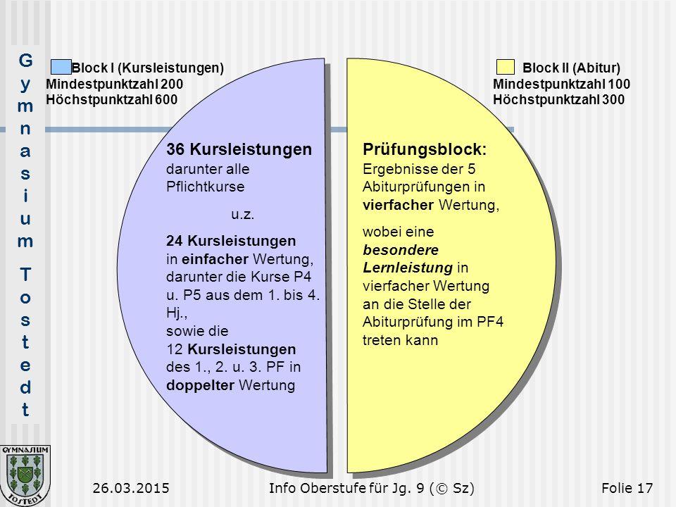 Info Oberstufe für Jg. 9 (© Sz)