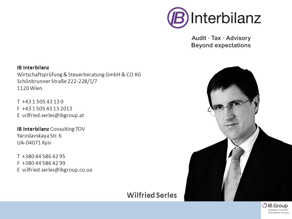 Kontakt Wilfried Serles IB Interbilanz