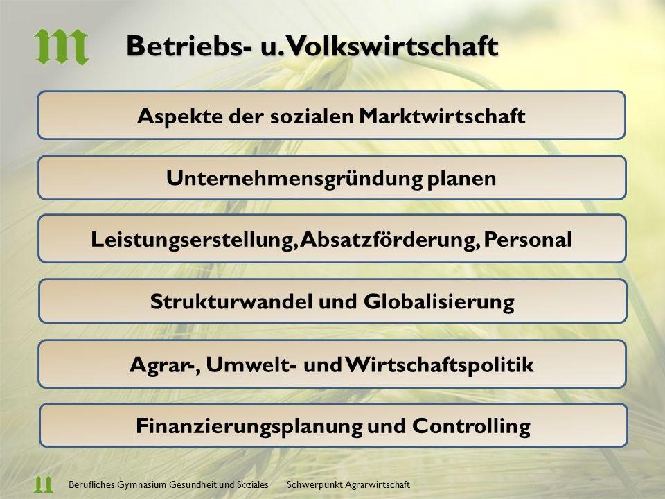 Betriebs- u. Volkswirtschaft