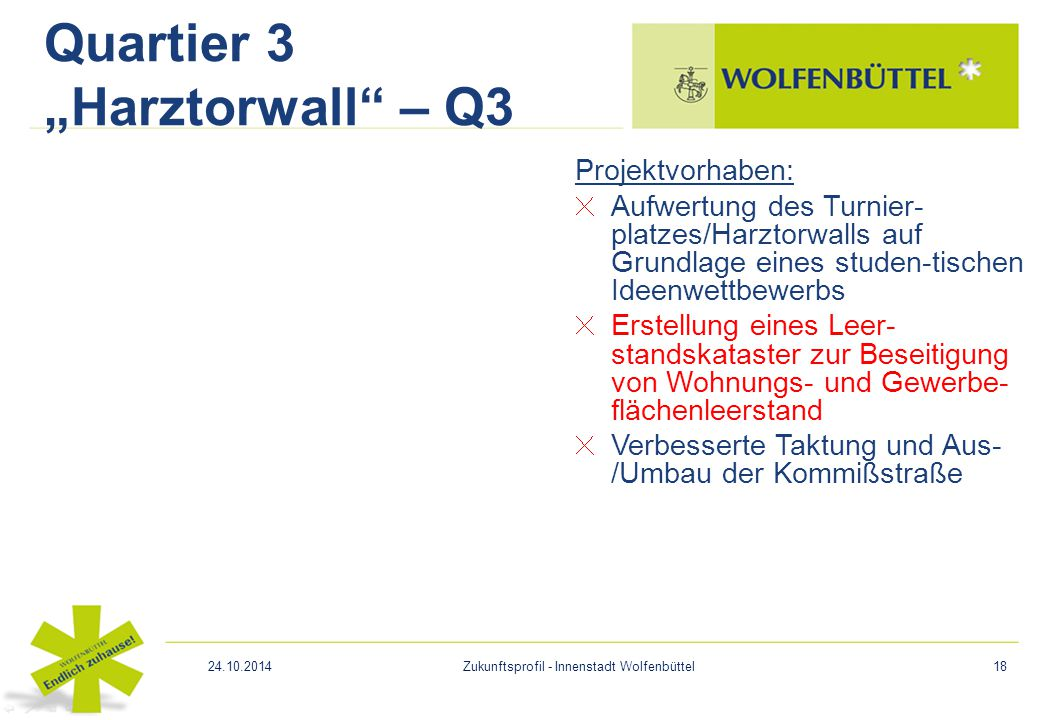 "Quartier 3 ""Harztorwall – Q3"