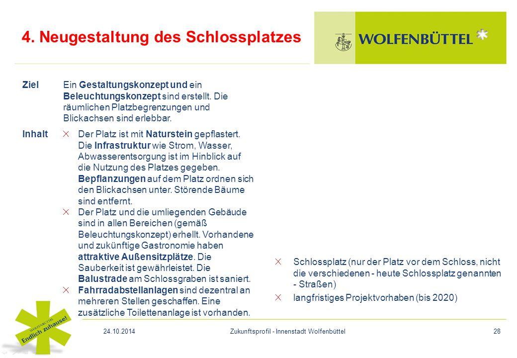 4. Neugestaltung des Schlossplatzes