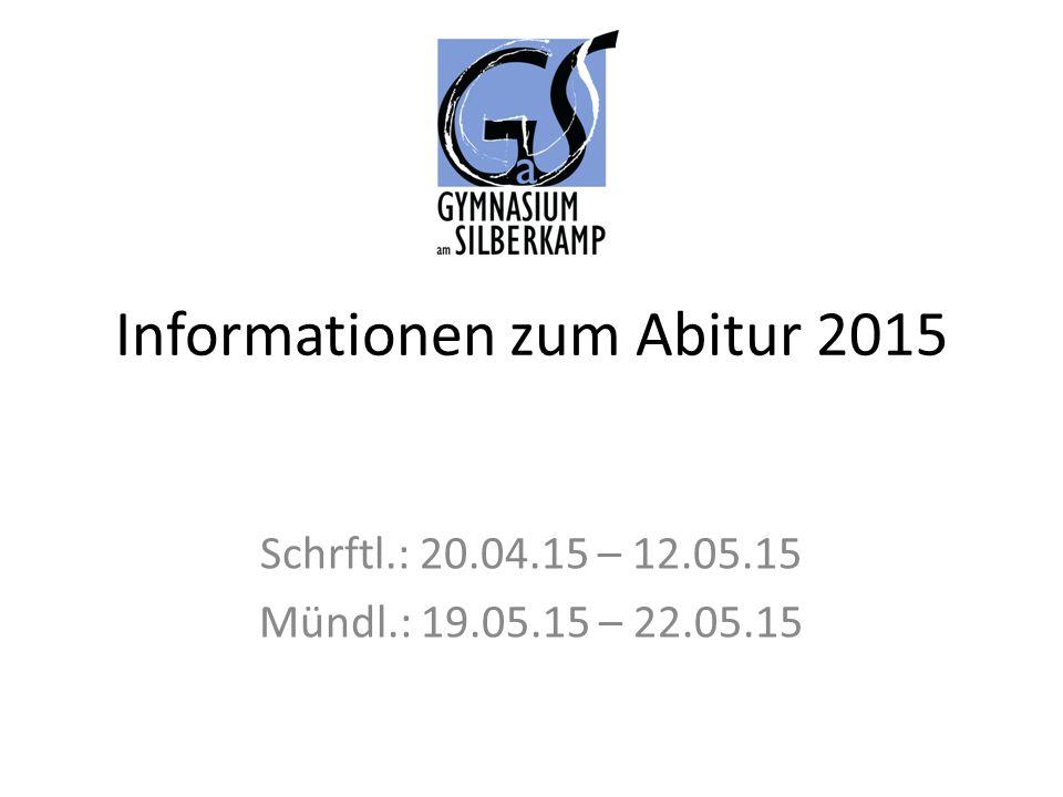 Informationen zum Abitur 2015