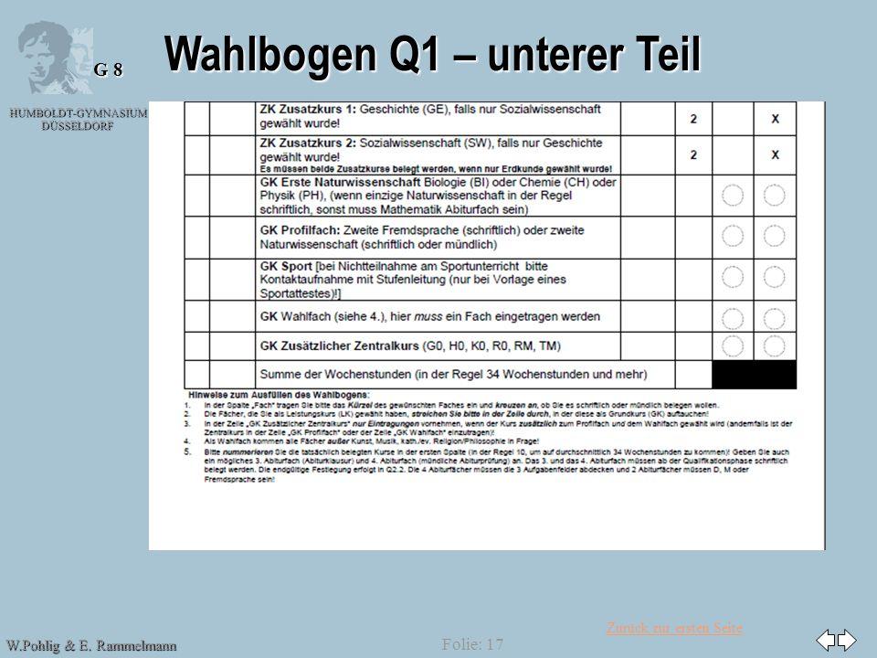 Wahlbogen Q1 – unterer Teil