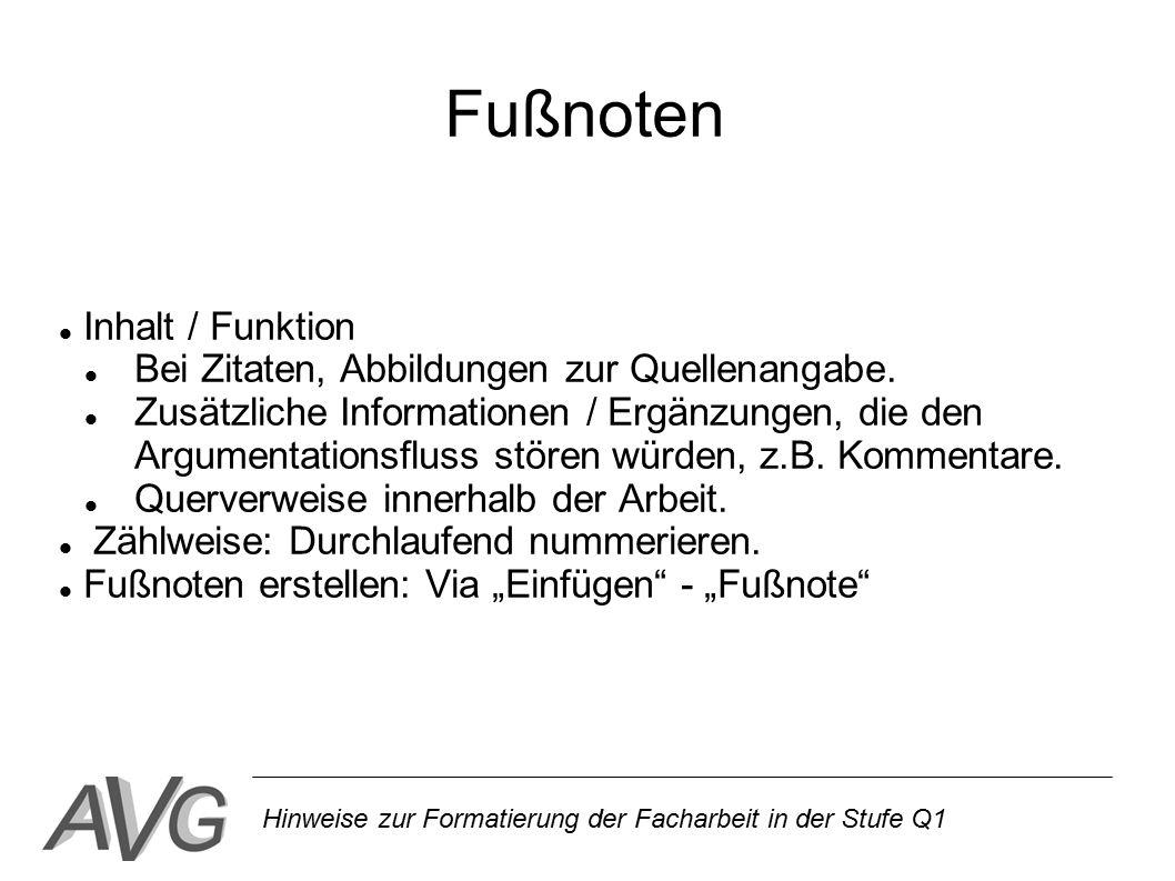 Fußnoten Inhalt / Funktion Bei Zitaten, Abbildungen zur Quellenangabe.