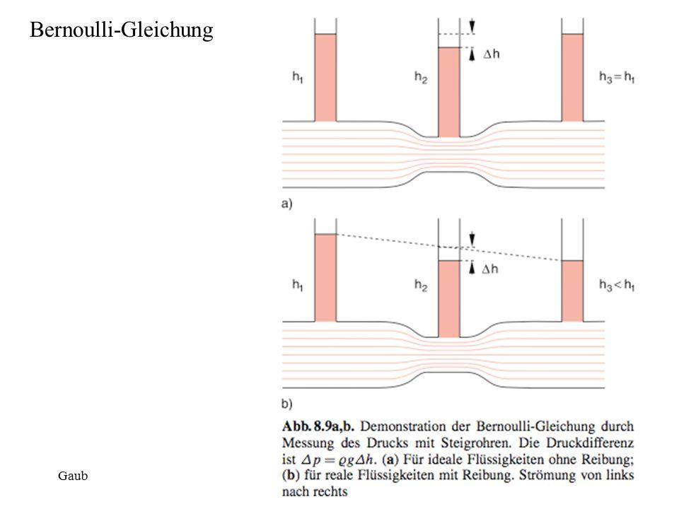 Bernoulli-Gleichung Gaub