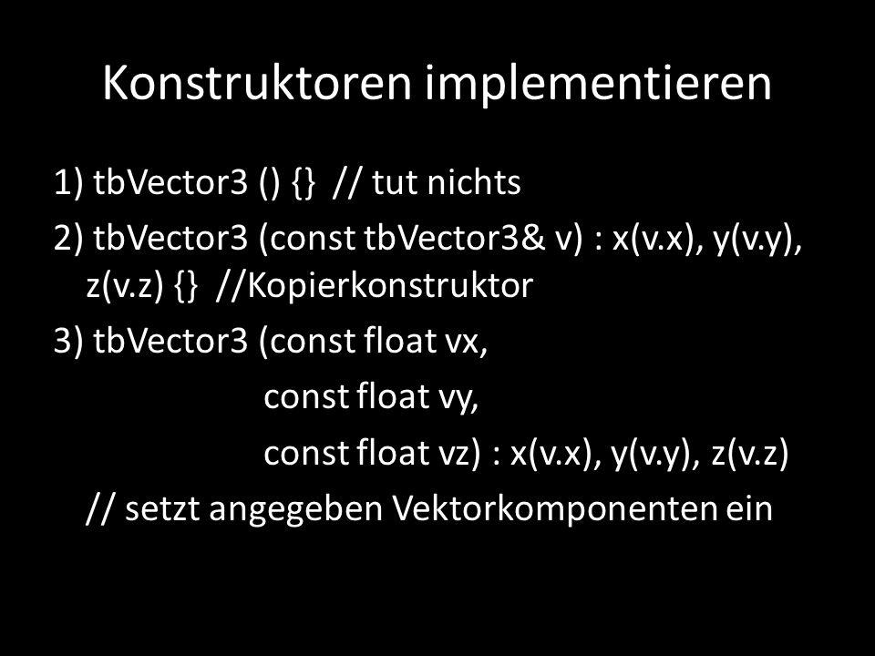 Konstruktoren implementieren