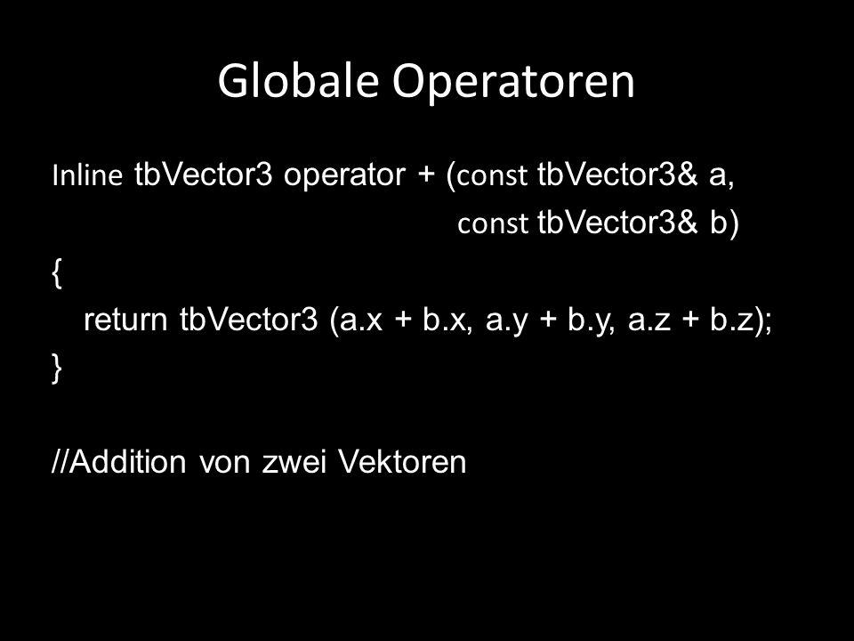Globale Operatoren