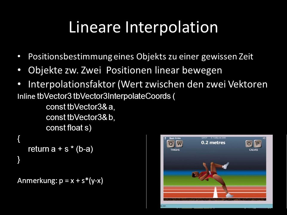 Lineare Interpolation