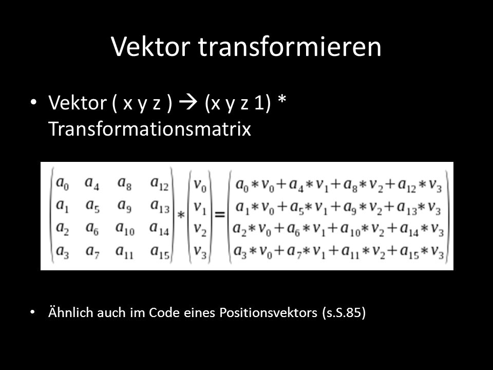 Vektor transformieren