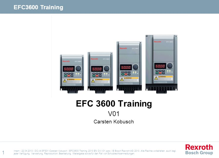 EFC 3600 Training V01 Carsten Kobusch