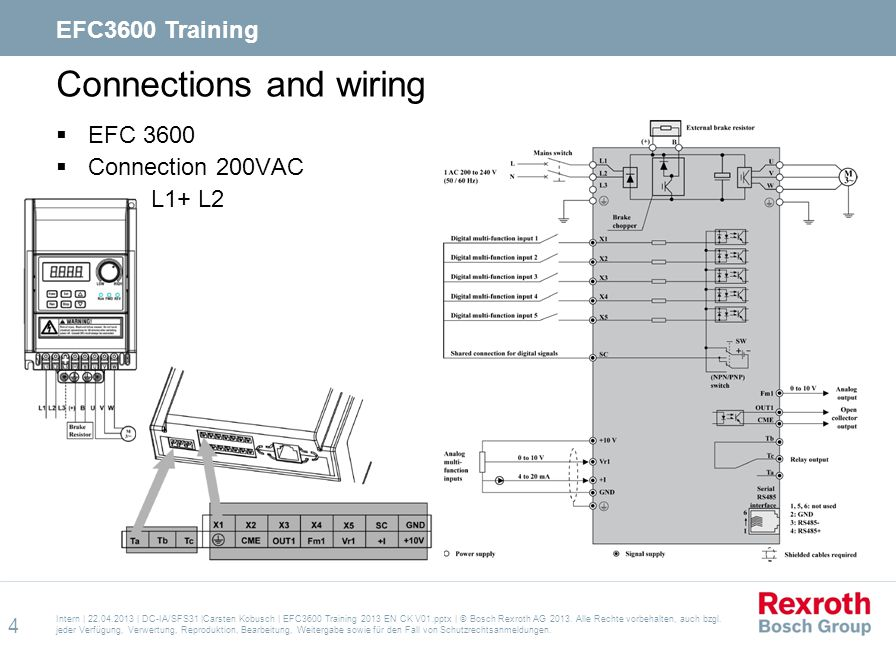 Connections and wiring