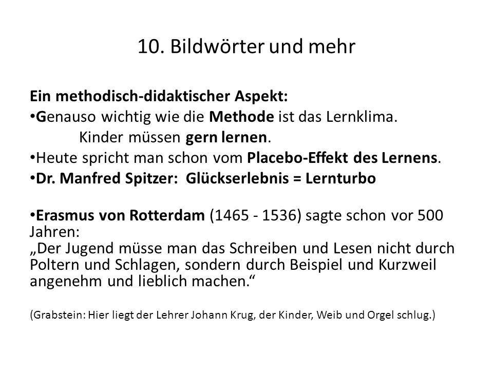 10. Bildwörter und mehr Ein methodisch-didaktischer Aspekt: