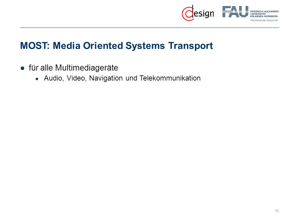 MOST: Media Oriented Systems Transport