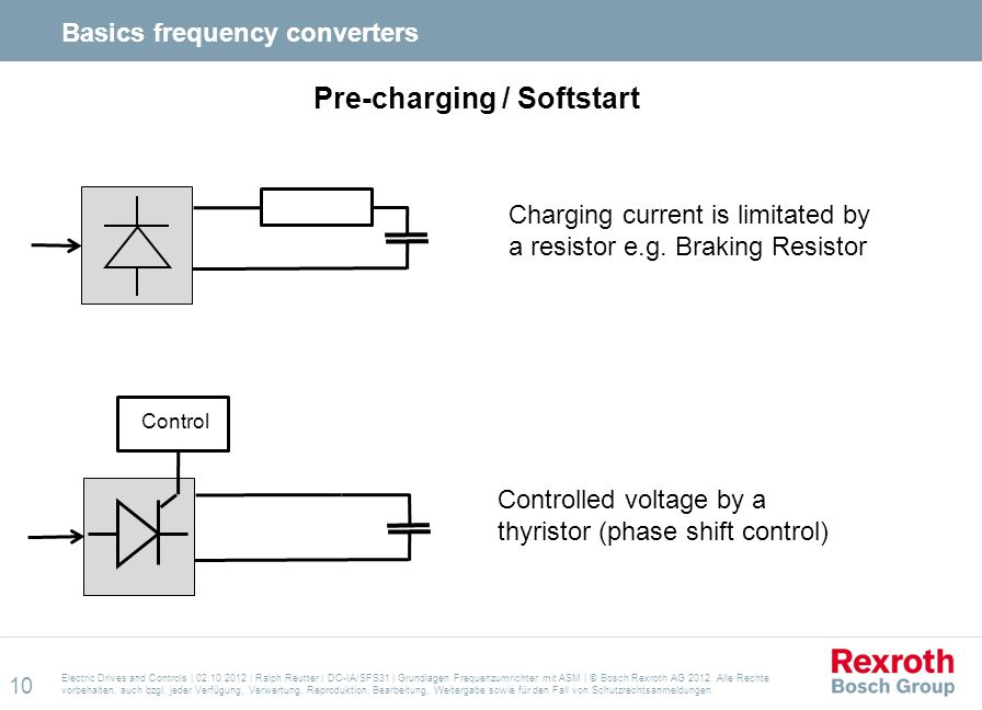 Pre-charging / Softstart