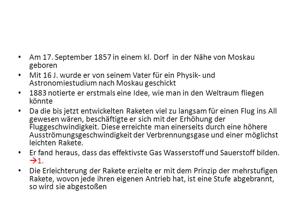 Am 17. September 1857 in einem kl. Dorf in der Nähe von Moskau geboren