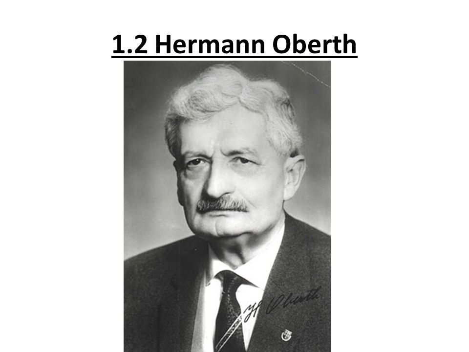 1.2 Hermann Oberth