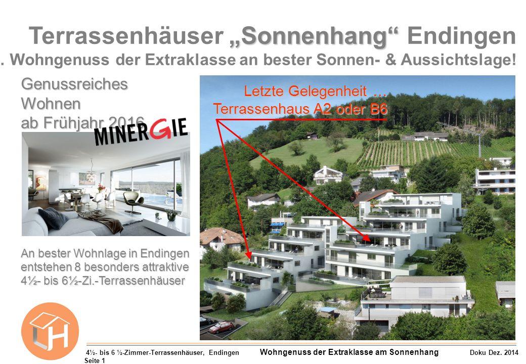 """Terrassenhäuser """"Sonnenhang Endingen"""