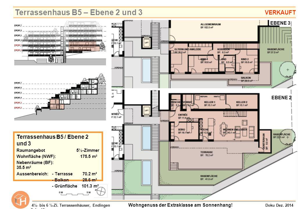 Terrassenhaus B5 – Ebene 2 und 3