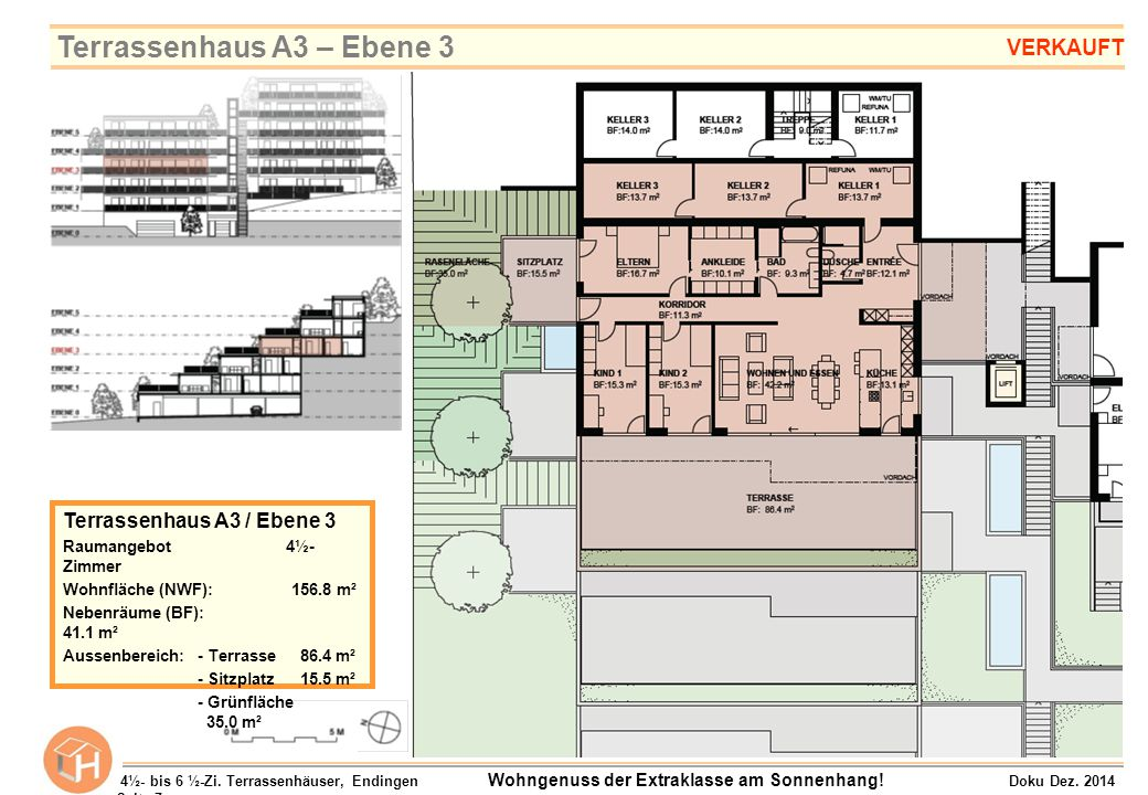 Terrassenhaus A3 – Ebene 3