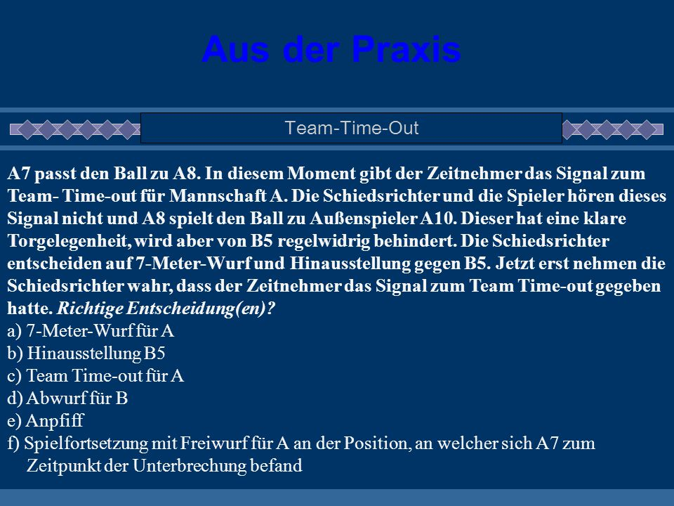 Aus der Praxis Team-Time-Out