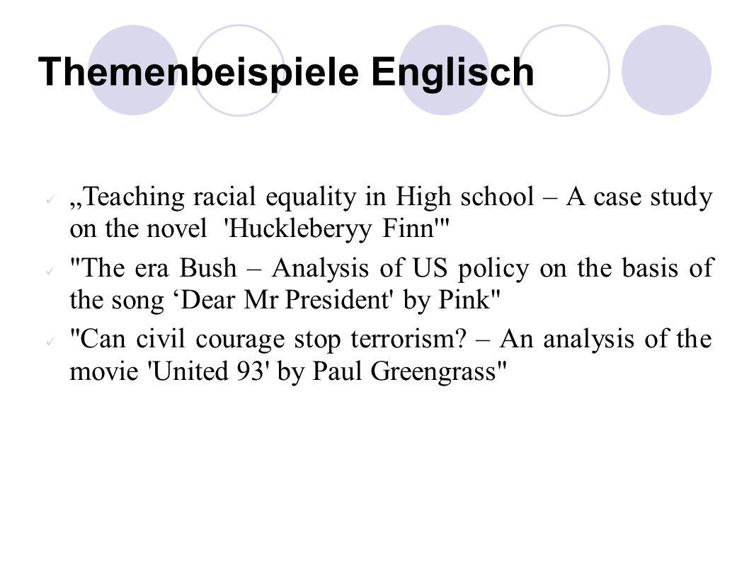Themenbeispiele Englisch