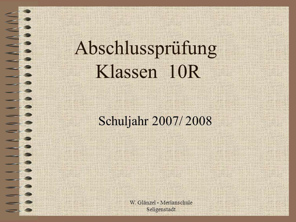 Abschlussprüfung Klassen 10R