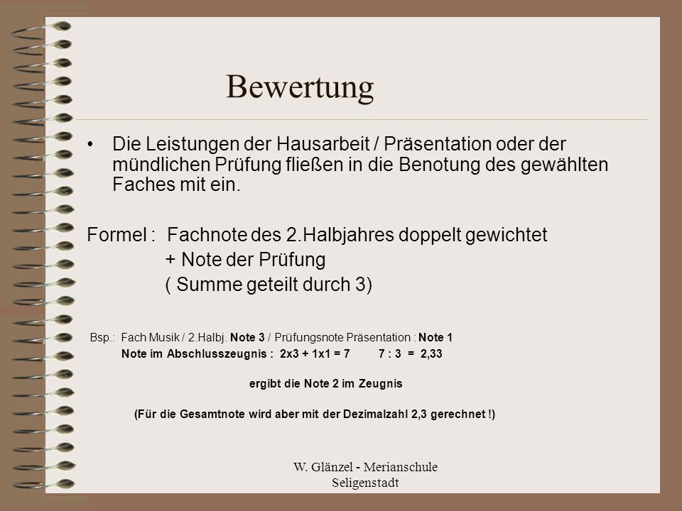 W. Glänzel - Merianschule Seligenstadt