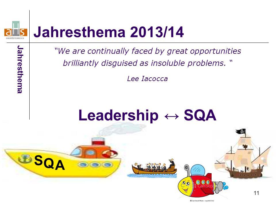 Leadership ↔ SQA Jahresthema 2013/14 S Q A Jahresthema
