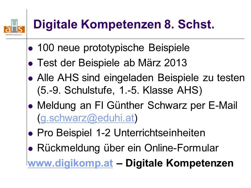 Digitale Kompetenzen 8. Schst.