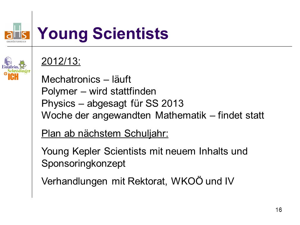 Young Scientists 2012/13: