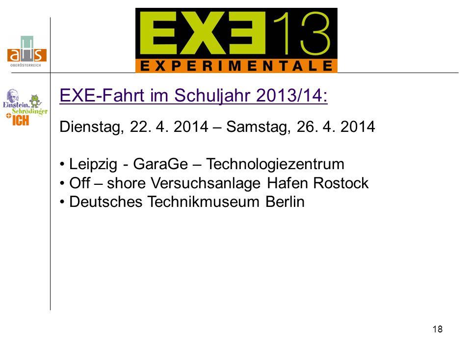 EXE-Fahrt im Schuljahr 2013/14: