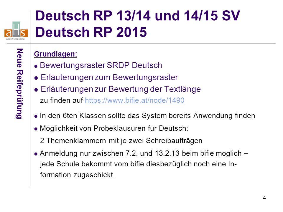 Deutsch RP 13/14 und 14/15 SV Deutsch RP 2015