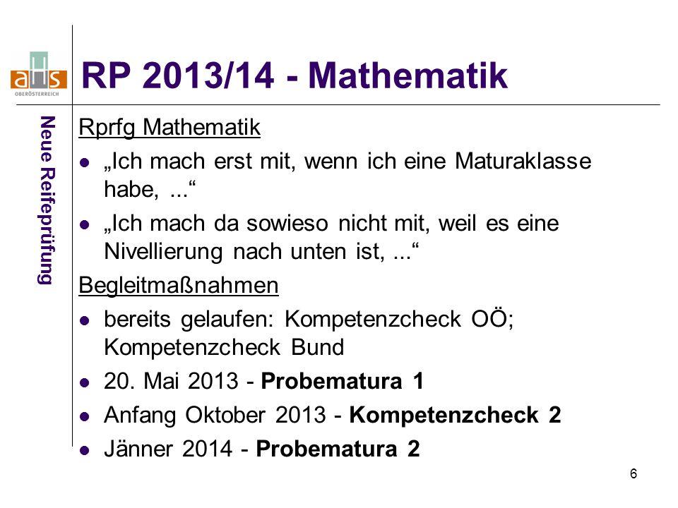RP 2013/14 - Mathematik Rprfg Mathematik