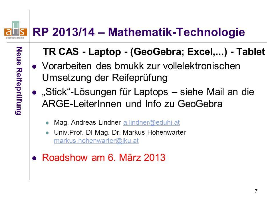 RP 2013/14 – Mathematik-Technologie